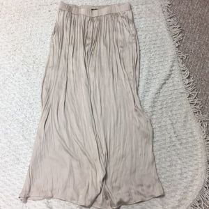 H&M Champagne-Colored Maxi Skirt